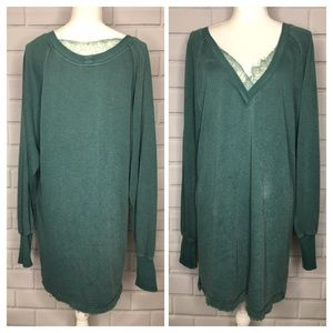 Intimately Free People Green Sweater Dress (S)